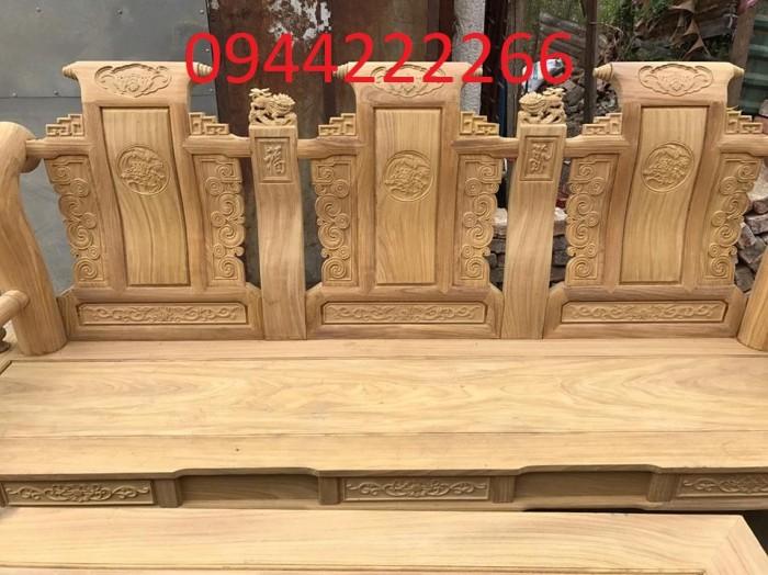 Bộ bàn ghế tần thủy hoàng gỗ cẩm vàng tay 128