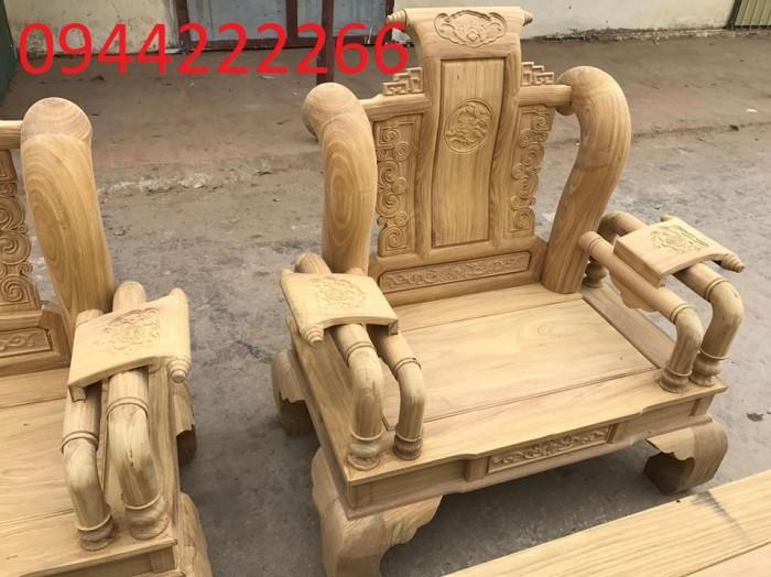 Bộ bàn ghế tần thủy hoàng gỗ cẩm vàng tay 127