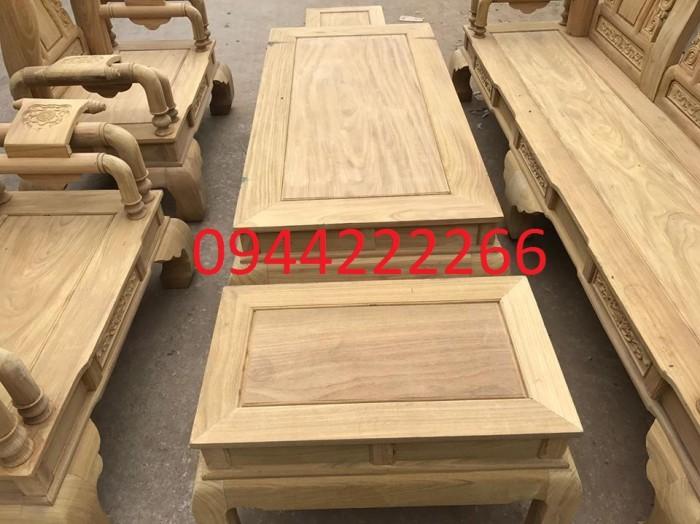 Bộ bàn ghế tần thủy hoàng gỗ cẩm vàng tay 129