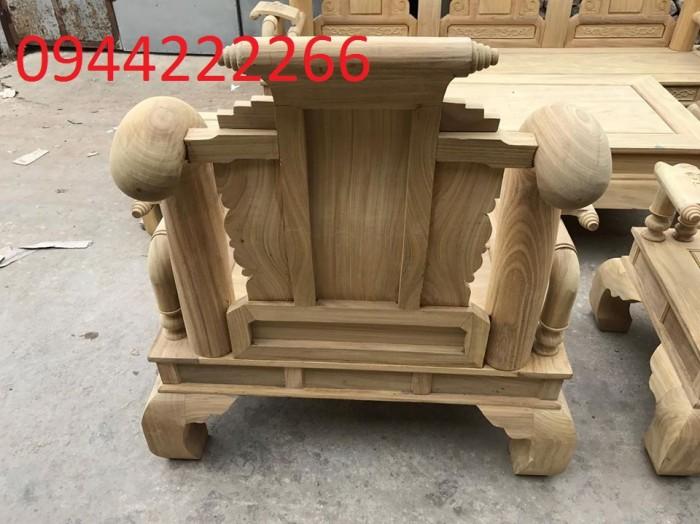 Bộ bàn ghế tần thủy hoàng gỗ cẩm vàng tay 1210