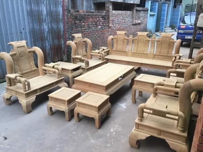 Bộ bàn ghế tần thủy hoàng gỗ cẩm vàng tay 1213