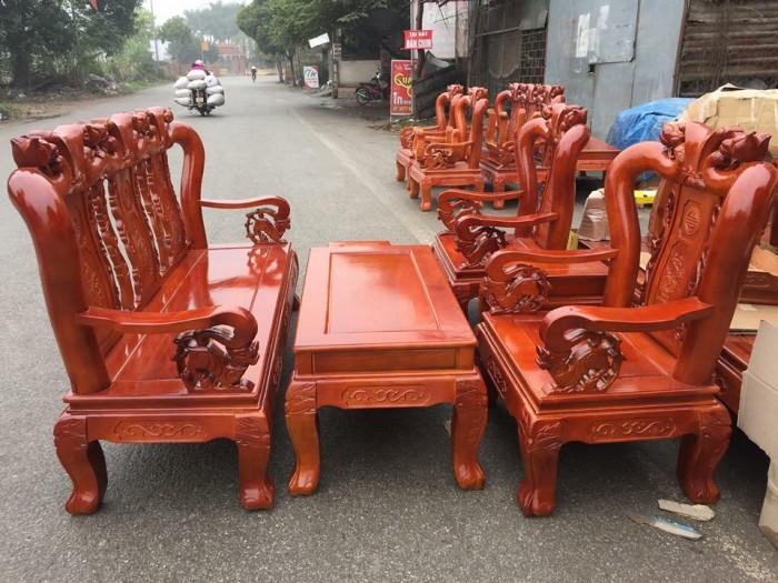 Bộ bàn ghế giả cổ trạm đào gỗ sồi nga10