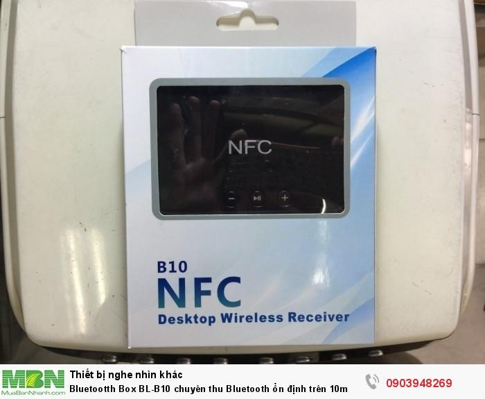 Thiết bị bluetooth box BL-B10 có tính năng NFC chạm 2 thiết bị vào nhau tự động ghép bluetooth