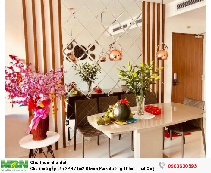 Cho thuê gấp căn 2PN 74m2 Rivera Park đường Thành Thái Quận 10 giá rẻ
