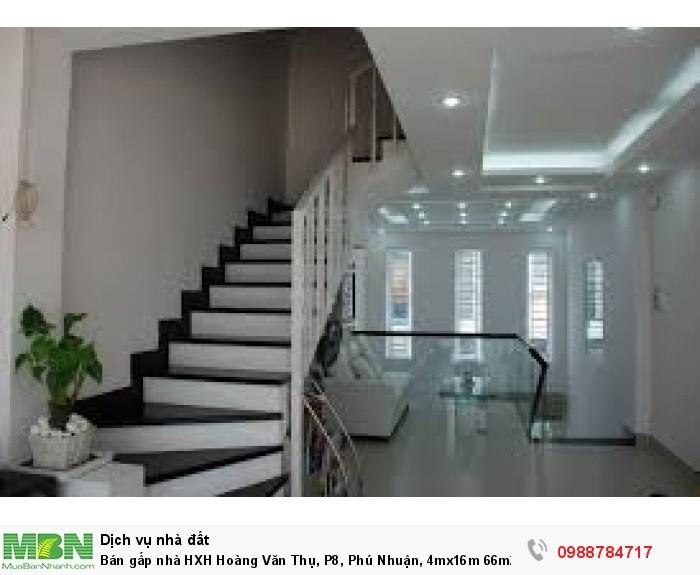 Bán gấp nhà HXH Hoàng Văn Thụ, P8, Phú Nhuận, 4mx16m 66m2x 2 lầu. TL.