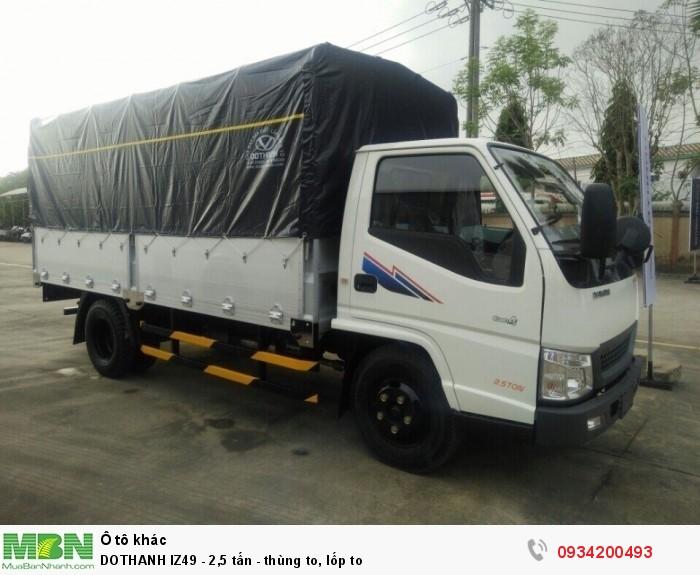 DOTHANH IZ49 - 2,5 tấn - thùng to, lốp to
