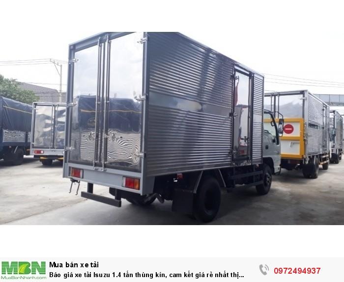 Báo giá xe tải Isuzu 1.4 tấn thùng kín, cam kết giá rẻ nhất thị trường, giiao xe ngay!