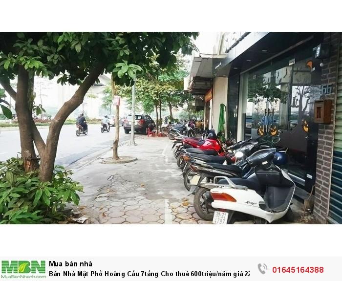 Bán Nhà Mặt Phố Hoàng Cầu 7tầng Cho thuê 600triệu/năm