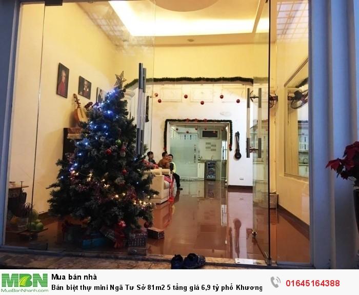 Bán biệt thự mini Ngã Tư Sở 81m2 5 tầng phố Khương Trung