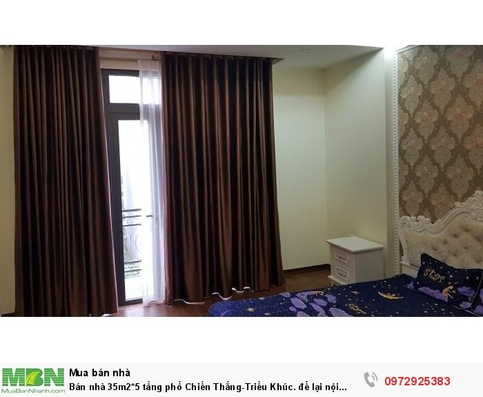 Bán nhà 35m2*5 tầng phố Chiến Thắng-Triều Khúc. để lại nội thất