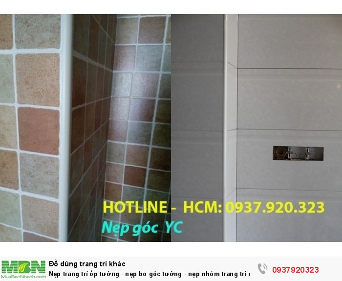 Nẹp trang trí ốp tường - nẹp bo góc tường - nẹp nhôm trang trí ốp góc - nẹp nhựa4