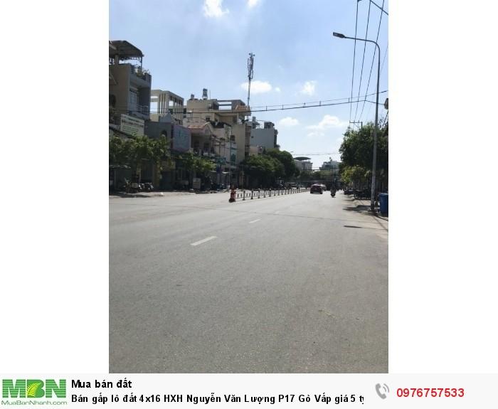 Bán gấp lô đất 4x16 HXH Nguyễn Văn Lượng P17 Gò Vấp