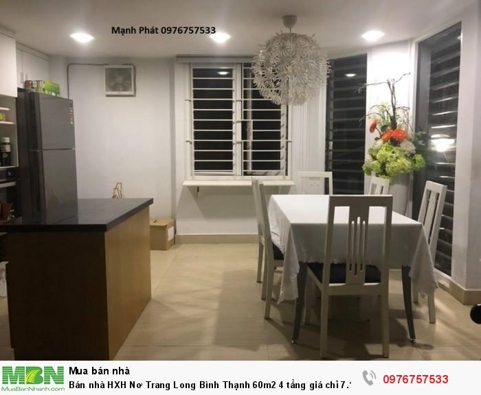 Bán nhà HXH Nơ Trang Long Bình Thạnh 60m2 4 tầng