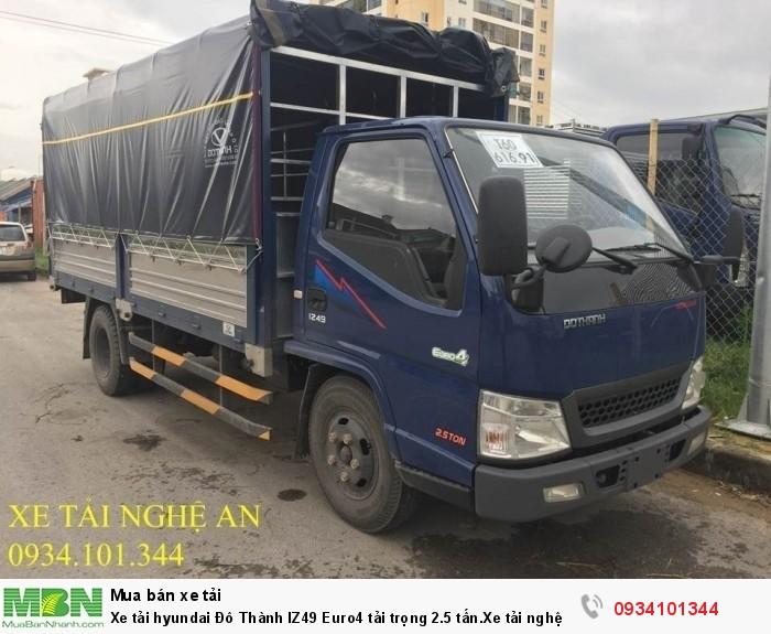 Xe tải hyundai Đô Thành IZ49 Euro4  tải trọng 2.5 tấn.Xe tải nghệ an. Hỗ trợ vay ngân hàng 75%
