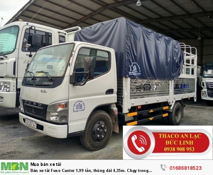 Bán xe tải Fuso Canter 1,99 tấn, thùng dài 4,35m. Chạy trong thành phố