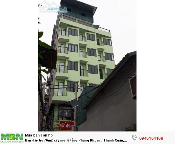Bán dãy trọ 76m2 xây mới 6 tầng Phùng Khoang-Thanh Xuân, có thang máy nội thất fun