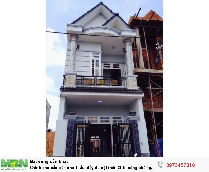 Chính chủ cần bán nhà 1 lầu, đầy đủ nội thất, 3PN, công chứng ngay, Hưng Long, Bình Chánh