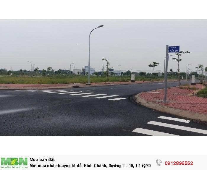 Mới mua nhà nhượng lô đất Bình Chánh, đường TL 10, 80m2, sổ hồng riêng