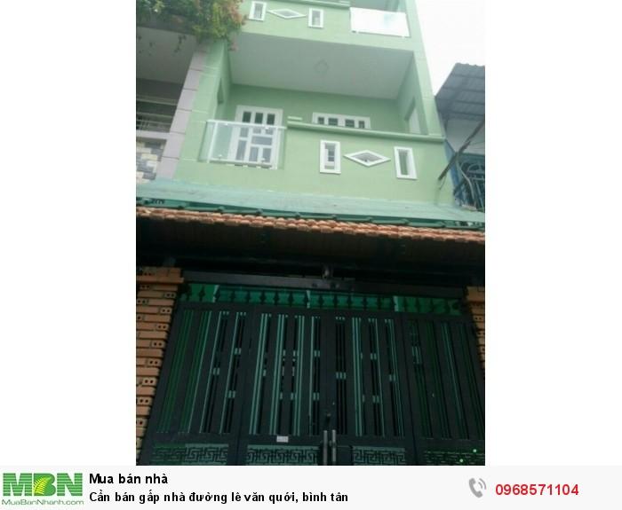 Cần Bán Gấp Nhà Đường Lê Văn Quới, Bình Tân