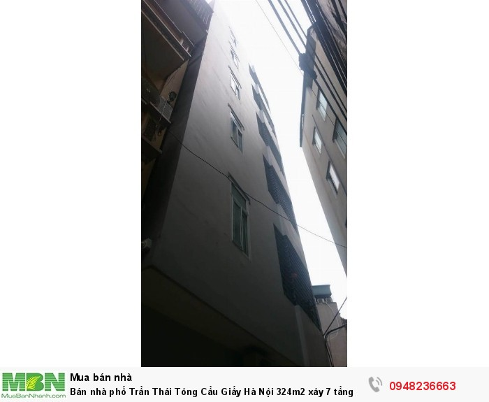 Bán nhà phố Trần Thái Tông Cầu Giấy Hà Nội 324m2 xây 7 tầng mặt tiền 12m