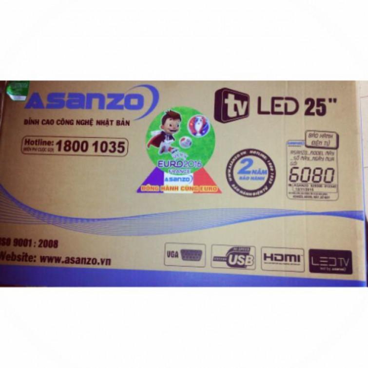 Tivi ASANZO LED 25 inch tích hợp DVB T21