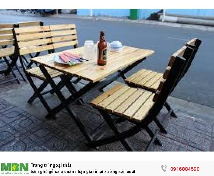 BàN ghế gổ cafe quán nhậu giá rẻ tại xưởng sản xuất3