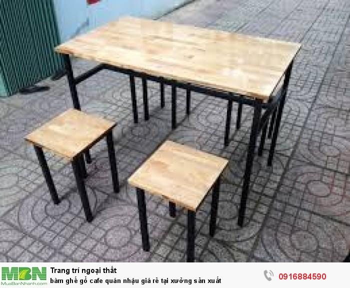 BàN ghế gổ cafe quán nhậu giá rẻ tại xưởng sản xuất4