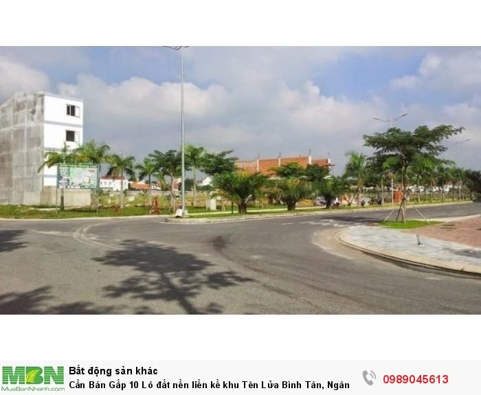 Cần Bán Gấp 10 Lô đất nền liền kề khu Tên Lửa Bình Tân, Ngân Hàng BIDV hỗ trợ 70%