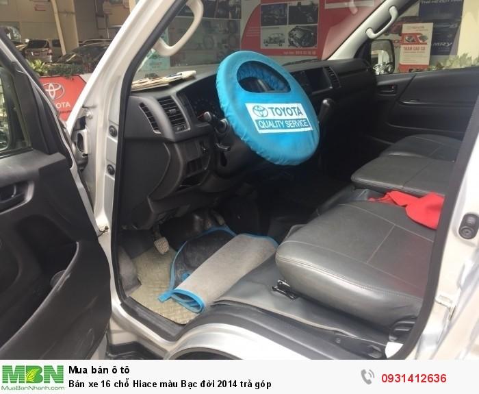 Bán xe 16 chỗ Hiace màu Bạc đời 2014 trả góp