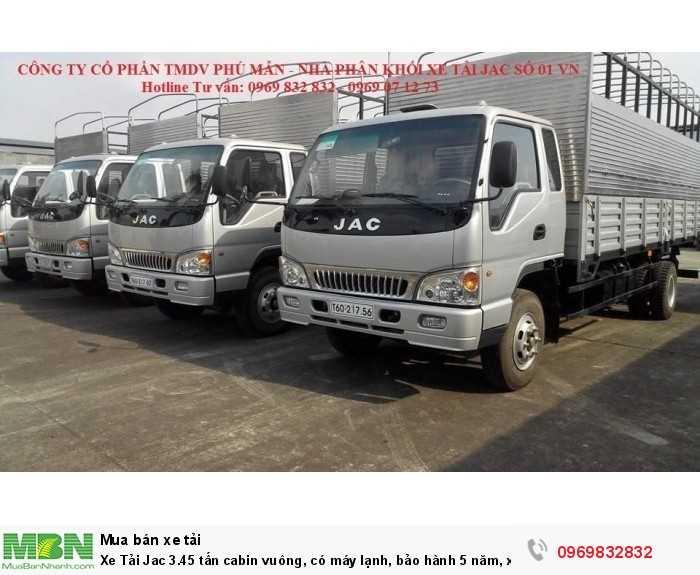 Mua xe tải Jac 3.45 tấn trả góp từ 90%, LS thấp, xe đủ thùng hàng chất lượng cao, gọi Mr Độ 0969 832 832 nhận giá ưu đãi ngay!