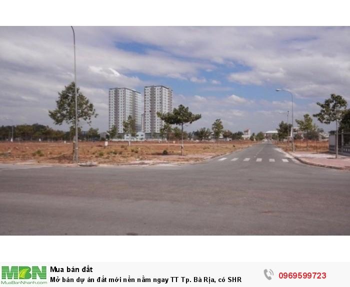 Mở bán dự án đất mới nền nằm ngay TT Tp. Bà Rịa, có SHR