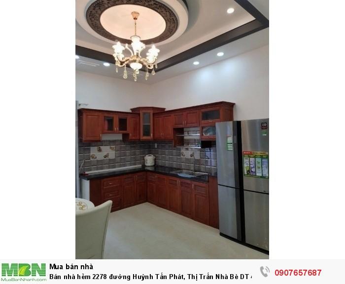 Bán nhà hẻm 2278 đường Huỳnh Tấn Phát, Thị Trấn Nhà Bè DT 4m x 15m