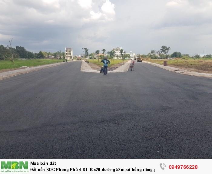 Đất nền KDC Phong Phú 4-DT 10x20-đường 52m-sổ hồng riêng bao VAT