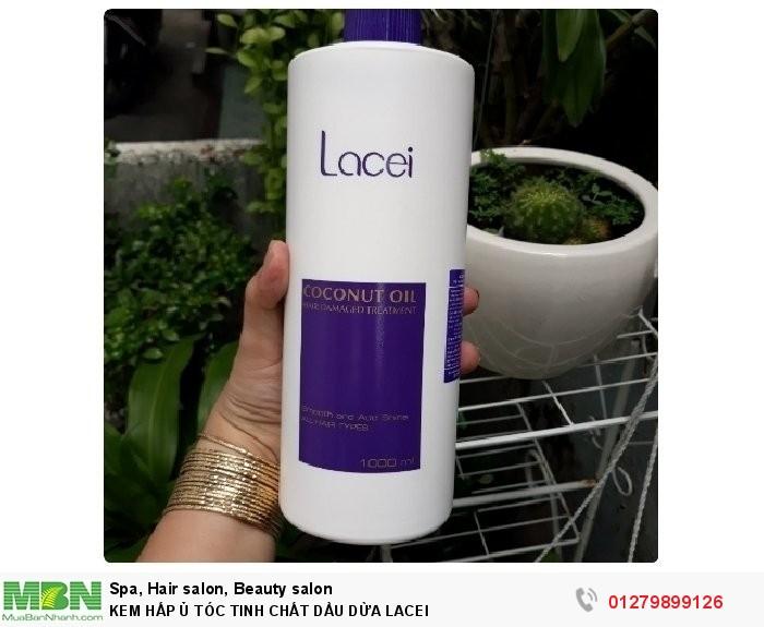 Kem ủ tóc tinh chất dầu dừa LACEI 1000ml (hấp dầu dừa Lacei)0