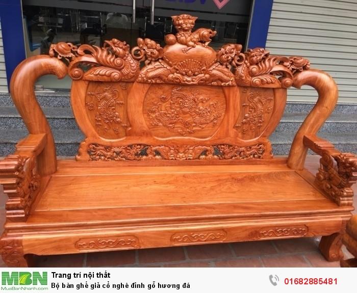 Bộ bàn ghế giả cổ nghê đỉnh gỗ hương đá5