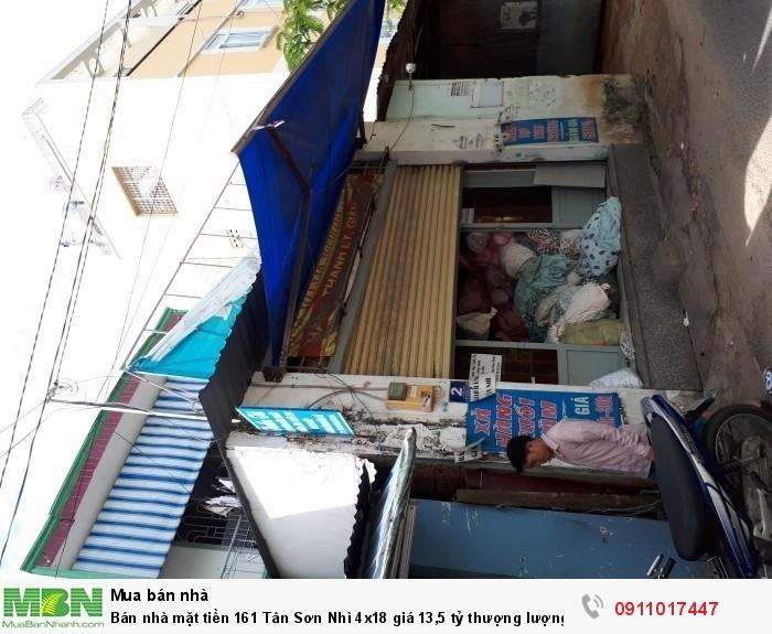 Bán nhà mặt tiền 161 Tân Sơn Nhì 4x18 giá thượng lượng