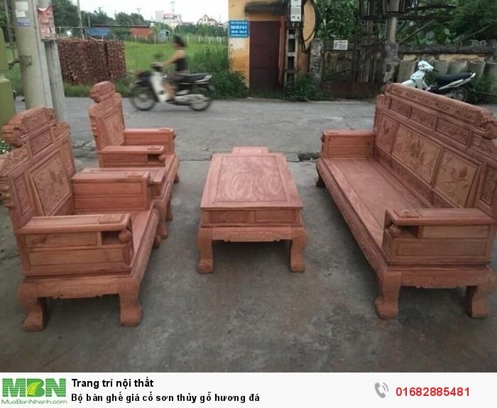 Bộ bàn ghế giá cổ phù dung gỗ hương đá3