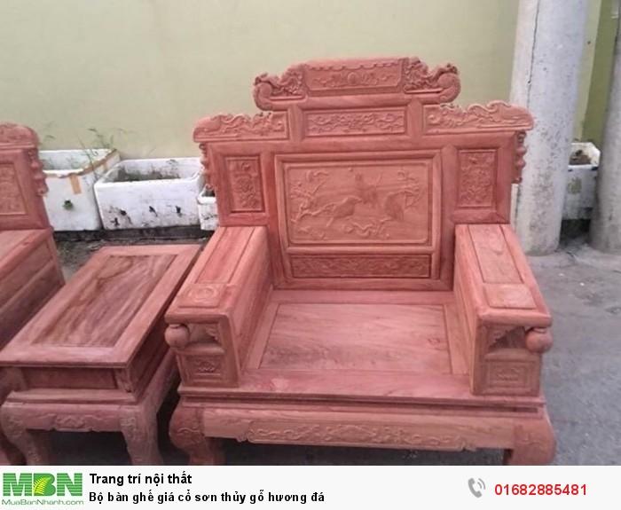 Bộ bàn ghế giá cổ phù dung gỗ hương đá5