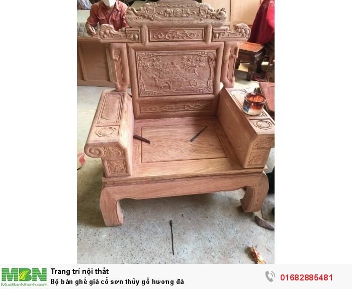 Bộ bàn ghế giá cổ phù dung gỗ hương đá7