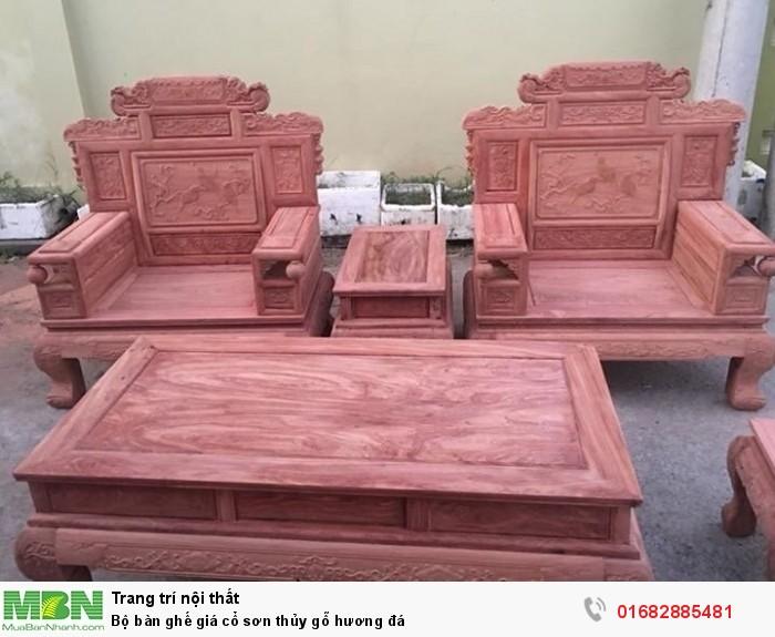 Bộ bàn ghế giá cổ phù dung gỗ hương đá8