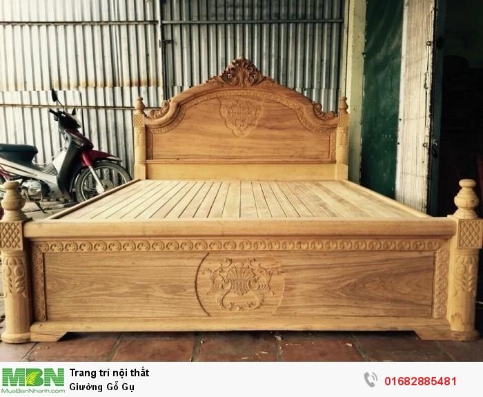 Giường Gỗ Gụ4