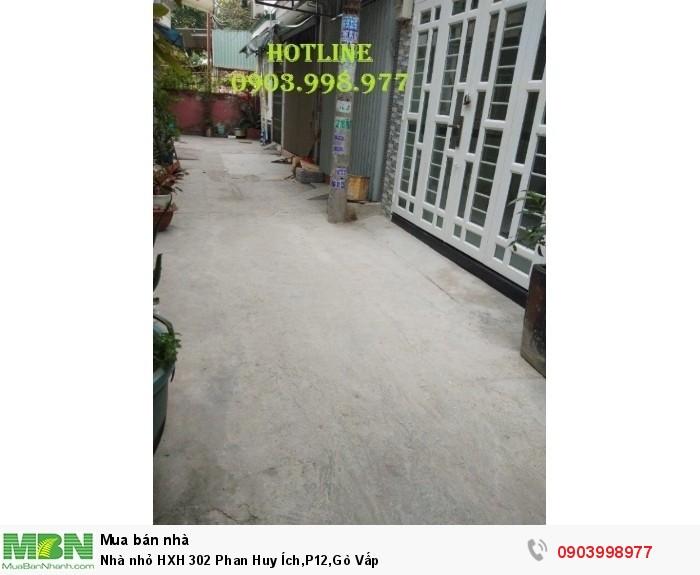 Nhà nhỏ HXH 302 Phan Huy Ích,P12,Gò Vấp