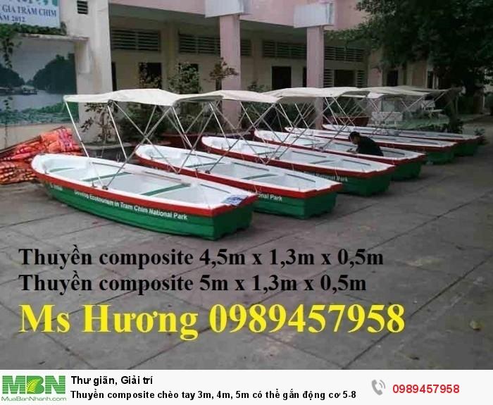 Thuyền composite chèo tay 3m, 4m, 5m có thể gắn động cơ 5-8 HP, Thuyền nhựa giá tốt3