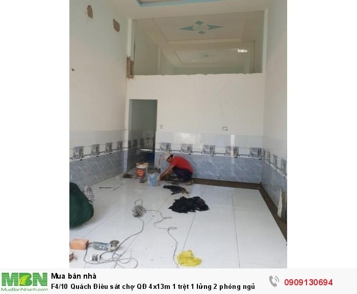 F4/10 Quách Điêu sát chợ QĐ 4x13m 1 trệt 1 lửng 2 phòng ngủ