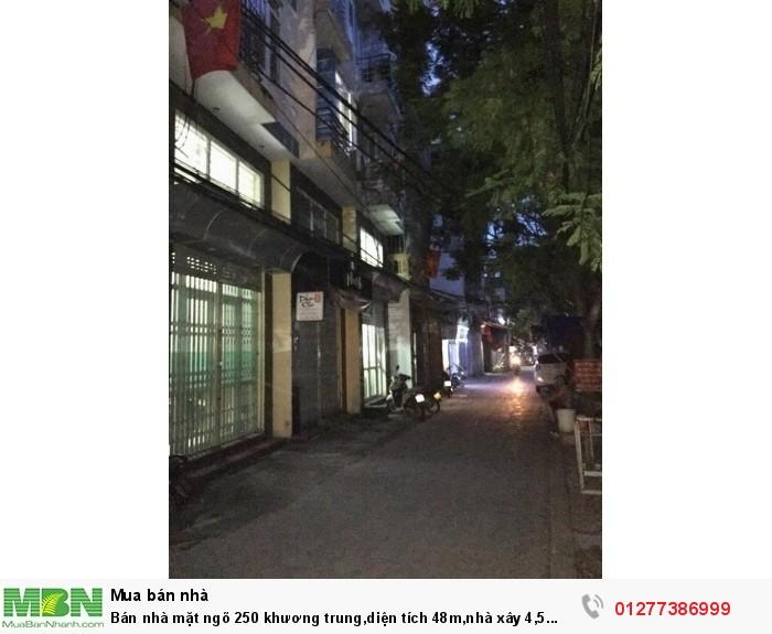 Bán Nhà Mặt Ngõ 250 Khương Trung, Diện Tích 48M,nhà Xây 4,5 Tầng,kinh Doanh Tốt