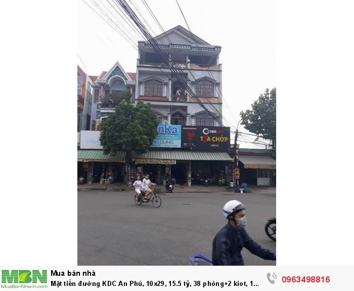 Mặt tiền đường KDC An Phú, 10x29, 15.5 tỷ, 38 phòng+2 kiot, 1 trệt 3 lầu.