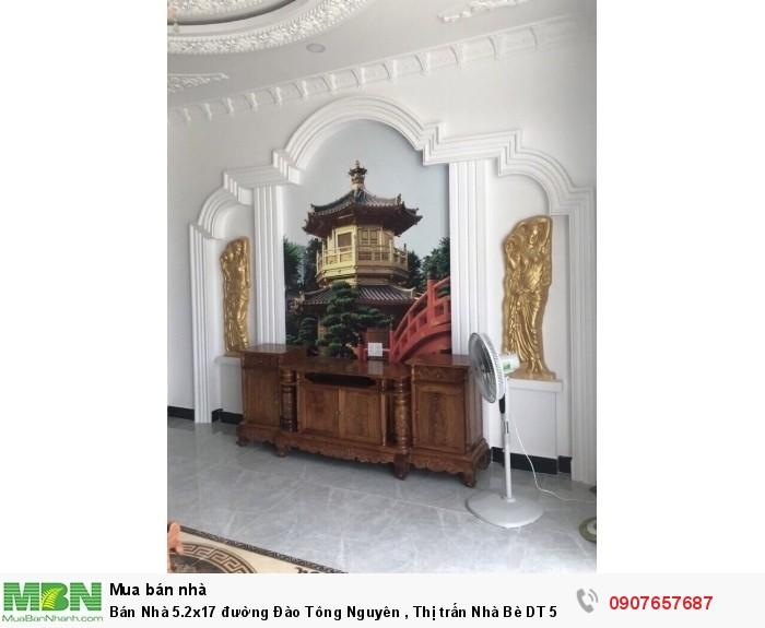 Bán Nhà 5.2x17 đường Đào Tông Nguyên , Thị trấn Nhà Bè  DT 5,2m x 17m