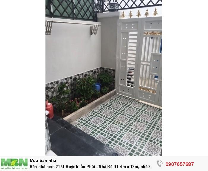 Bán nhà hẻm 2174 Huỳnh tấn Phát - Nhà Bè DT 4m x 12m, nhà 2 lầu, 4 phòng ngủ, tặng full nội thất