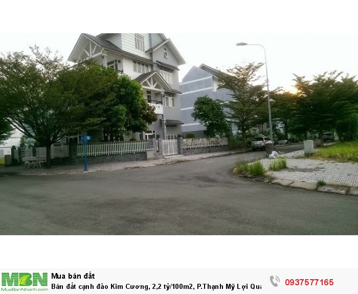 Bán đất cạnh đảo Kim Cương, 2,2 tỷ/100m2, P.Thạnh Mỹ Lợi Quận 2 Ms Sang