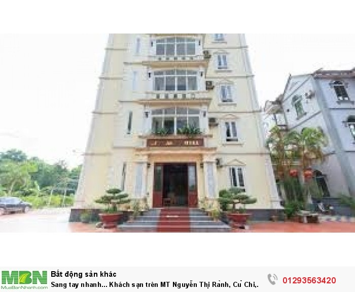 Sang tay nhanh...  Khách sạn trên MT Nguyễn Thị Rành, Củ Chi, SHR.